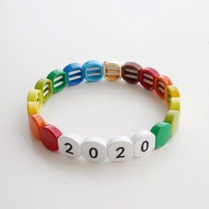 Rainbow Enamel Stretch Bracelet 2020